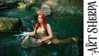 Download Fresh water Mermaid acrylic tutorial Fantasy painting Fairytale #6 Video