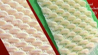 Download Bufanda a Crochet en punto gajos de lima limón en 3D tejido tallermanualperu Video