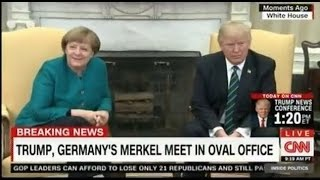 Download Donald Trump and Angela Merkel at the White House how do they look? Video