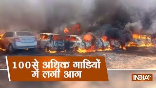 Download Bangalore Air Show: Many cars gutted in fire at parking near venue of Aero India 2019 in Bengaluru Video