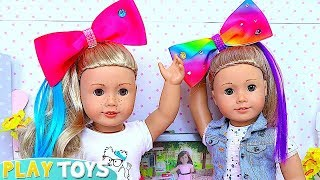 Download Baby Doll Hair Cut Shop & Make up Toys! Shimmer Shine DYI Hairstyle Make up for American Girl dolls! Video