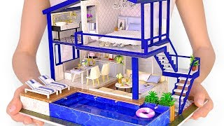 Download DIY Miniature Modern Party Home with Real Swimming Pool Video