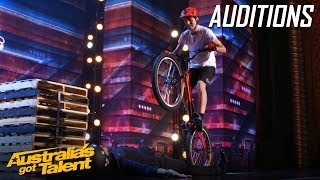 Download Biker Puts a Judges' Life on the Line | Auditions | Australia's Got Talent Video