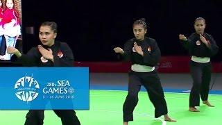 Download Pencak Silat Artistic Female Team - Regu Finals 1st Placing (Day 5) | 28th SEA Games Singapore 2015 Video