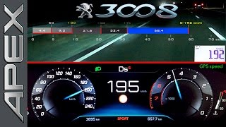 Download PEUGEOT 3008 SUV GT Line - FULL THROTTLE + CONTROLLED EMERGENCY STOP (2017) Video