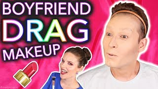 Download Giving my Boyfriend a Drag Queen Makeover *wig snatched* Video