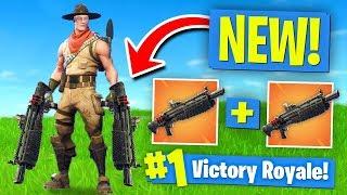 Download *NEW* DOUBLE HEAVY SHOTGUN Strategy! Fortnite Battle Royale Video