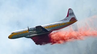 Download Fire Fighting Airplanes in Action - Lockheed Electra Tanker Video