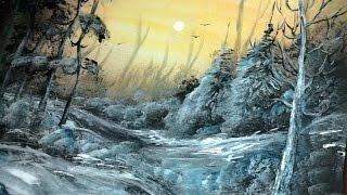 Download winter landscape spray paint art techniques Video