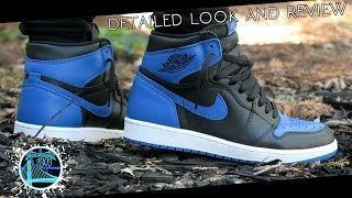 Download Air Jordan 1 Retro High OG 'Royal' 2017 | Detailed Look and Review Video