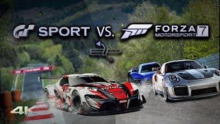 Download Gran Turismo Sport vs Forza Motorsport 7 Graphics and Sound Comparison 4k 60ᶠᵖˢ BUP Video