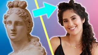 Download Women Try Ancient Hairstyles Video