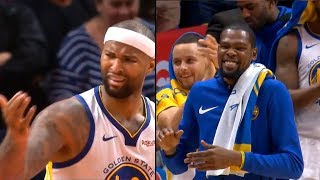 Download DeMarcus Cousins gets standing ovation from Warriors bench & Clippers crowd after fouled out Video