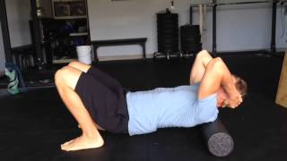 Download How to Fix Upper Back and Neck Pain with a Foam Roll Video