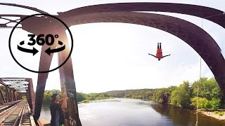 Download Bridge Jumping | Cliff Life | 4k VR 360° Video Video