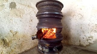 Download Wood Stove from Car Wheel DIY Video