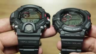 Download Side by side Casio Rangeman GW-9400-1 & Casio Mudman G-9300-1 Video