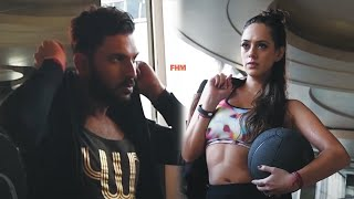 Download Yuvraj Singh and Hazel Keech on FHM Dec'16-Jan'17 cover Video