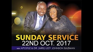 Download Sunday 22nd Oct. LIVE Service With Apostle Johnson Suleman Video