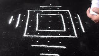 Download Simple lines kolam - 9 dots Diwali rangoli designs | Sudha Balaji Video