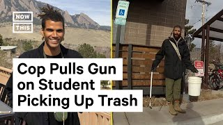 Download Officer Pulls Gun on Student Picking Up Trash Outside of Dorm Building | NowThis Video