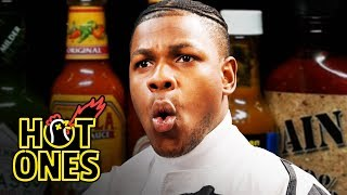 Download John Boyega Summons the Force While Eating Spicy Wings | Hot Ones Video