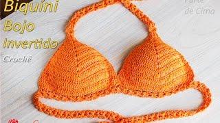 Download Biquíni de Crochê com bojo invertido   Tamanhos: P,M,G,GG e EXG Professora Simone Video