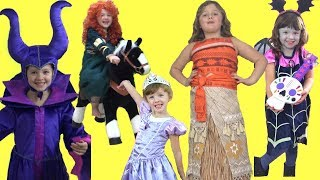 Download Disney Princess KIDS COSTUME RUNWAY SHOW Frozen Moana Vampirina Cinderella &More |Best of Dress Up! Video