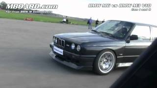 Download HD: 2 x cam BMW M3 V10 vs BMW M6 Video