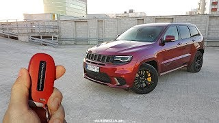 Download Jeep Grand Cherokee Trackhawk 6.2 V8 717 hp TEST POV Drive & Walkaround ENGLISH SUBTITLES Video