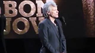 Download 2018 Rock & Roll Hall of Fame BON JOVI Complete Induction Speech Video
