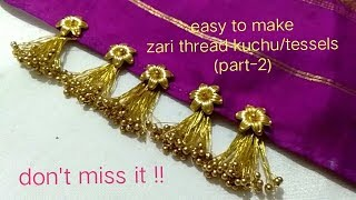 Download MCB's using zari thread how to make easy and latest kuchu/tessels for fancy & silk Sarees Video
