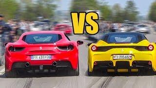 Download Ferrari 488 GTB vs Ferrari 458 Speciale - SOUND BATTLE! Video
