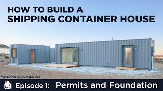 Download Building a Shipping Container Home | EP01Permits and Foundation Design Video
