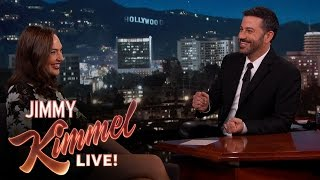 Download Gal Gadot Asks Jimmy Kimmel About Her Breasts Video