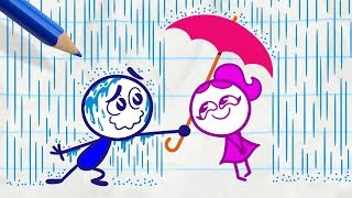 Download Pencilmiss Makes the Sun Shine -in- RAIN WOMAN - Pencilmation Cartoons for Kids Video