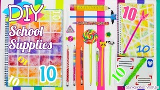 Download 10 DIY School Supplies – Easy Back To School DIY Projects Video