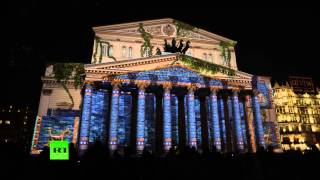 Download 'Circle of Light': Stunning light show projected onto Bolshoi Theater (4K Ultra HD Quality 2160p) Video