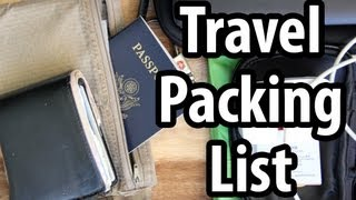Download Travel Packing List - Do You Carry These Things? Video