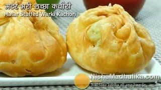 Download Matar Kachori Khasta Recipe - Green Peas Stuffed Layered Kachori - Matar Ki Kachori Video