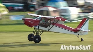 Download Ultralight Field Chaos! - Fixed Wing/STOL Flying - EAA AirVenture Oshkosh 2017 Video