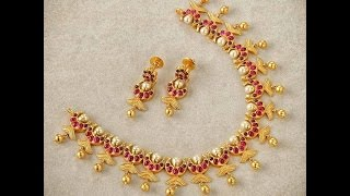 Download Latest Indian Light Weight Gold Short Necklace Set Designs 2017 Video