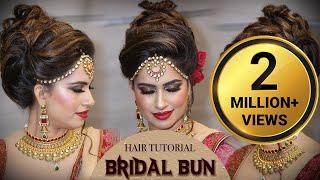 Download Bridal HIGH Bun Hairstyle Tutorial   Traditional Bridal Hairstyle Tutorials   Krushhh by Konica Video