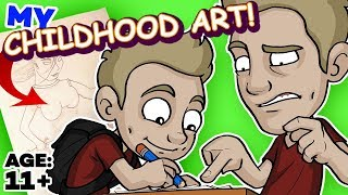 Download REACTING to my CHILDHOOD ART! Video
