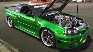 Download ERUBISU - R35 Powered R34 GT-R - SEQUENTIAL 6-Speed! Video