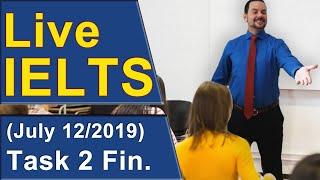 Download IELTS Live - Task 2 Writing - Member's Finish Video
