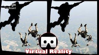 Download 3D FREE PARACHUTE JUMP VR Videos 3D SBS Google Cardboard VR Virtual Reality VR Box Video