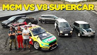 Download Racing a V8 Supercar (In Our Street Cars!!) Video