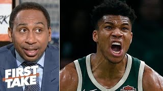 Download Giannis is going to be in 'attack mode' against Kawhi, Raptors in Game 1 - Stephen A. | First Take Video
