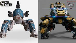 Download War Robots' Raijin & Fujin VS Battle of Titans' Nelly & Mite: Full Comparison! Video